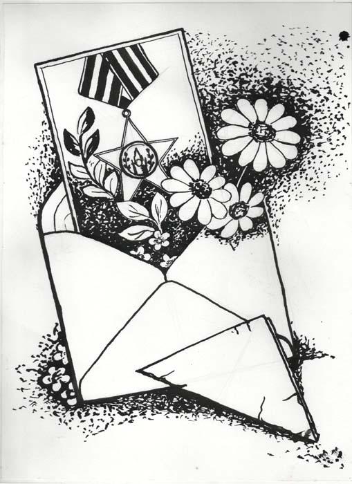 Открытки с графикой черно-белой 69